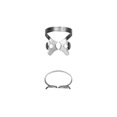Hu-friedy 2 Satin Steel® Rubber Dam Clamp
