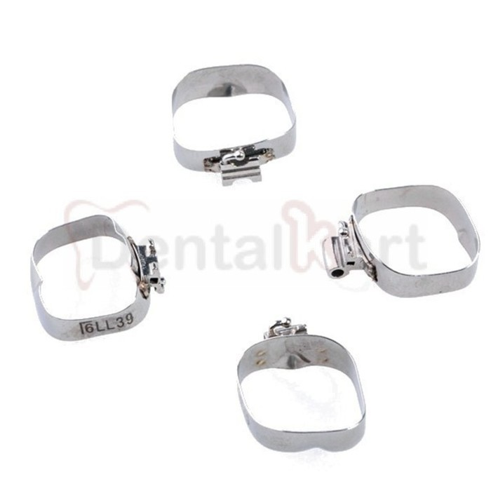 Preformed Molar Band With Prewelded MBT Buccal Convertible Tubes Pack of 4 Pcs