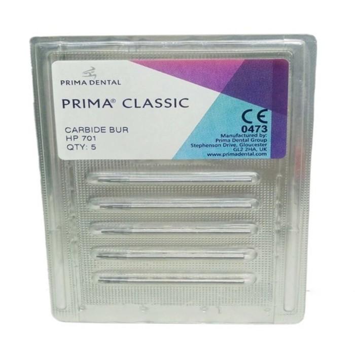 Carbide Burs (Prima Classic UK) 701(Set of 5 burs)
